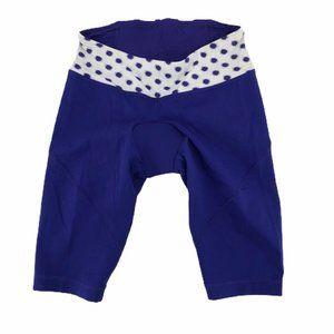 Lululemon Womens Shorts Blue White Polka Dot Sz XS